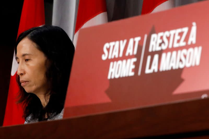 FILE PHOTO: Canada's Chief Public Health Officer Dr. Theresa Tam attends a news conference in Ottawa