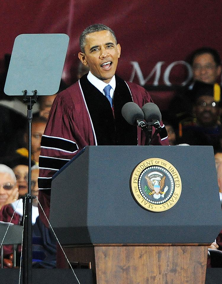 President Obama Delivers Remarks At Morehouse College 2013 Commencement