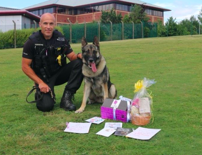 PD Audi is back at work after he suffered a knife wound during an arrest (PA)