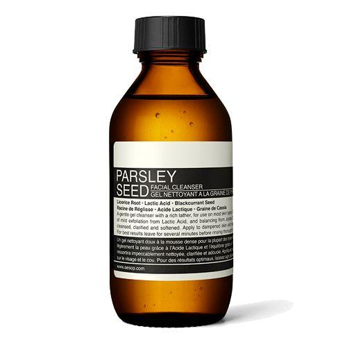 """<p><a class=""""body-btn-link"""" href=""""https://www.aesop.com/uk/p/skin/cleanse/parsley-seed-facial-cleanser/?siteName=Aesop+United+Kingdom"""" target=""""_blank"""">SHOP</a></p><p>Cold water just won't cut it. Using a decent, nasty chemicals-free cleanser - much like Aesop's Parsley Seed iteration - should be the first and last thing you do each day. Why? Because it'll stop all the villains that your face faces each day - especially if you're a city dweller.</p><p><em>Aesop Parsley Seed Facial Cleanser, £27, <a href=""""https://www.aesop.com/uk/p/skin/cleanse/parsley-seed-facial-cleanser/?siteName=Aesop%20United%20Kingdom"""" target=""""_blank"""">aesop.com</a></em></p>"""