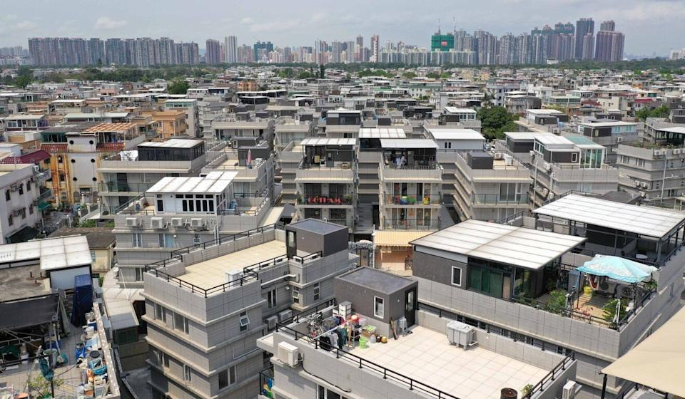 An aerial view of low-rise village houses in Yuen Long. Photo: Winson Wong