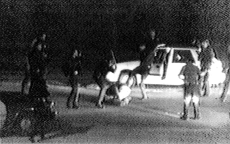 FILE - This March 31, 1991 image made from video shot by George Holliday shows police officers beating a man, later identified as Rodney King. King, the black motorist whose 1991 videotaped beating by Los Angeles police officers was the touchstone for one of the most destructive race riots in the nation's history, has died, his publicist said Sunday, June 17, 2012. He was 47. (AP Photo/Courtesy of KTLA Los Angeles, George Holliday)