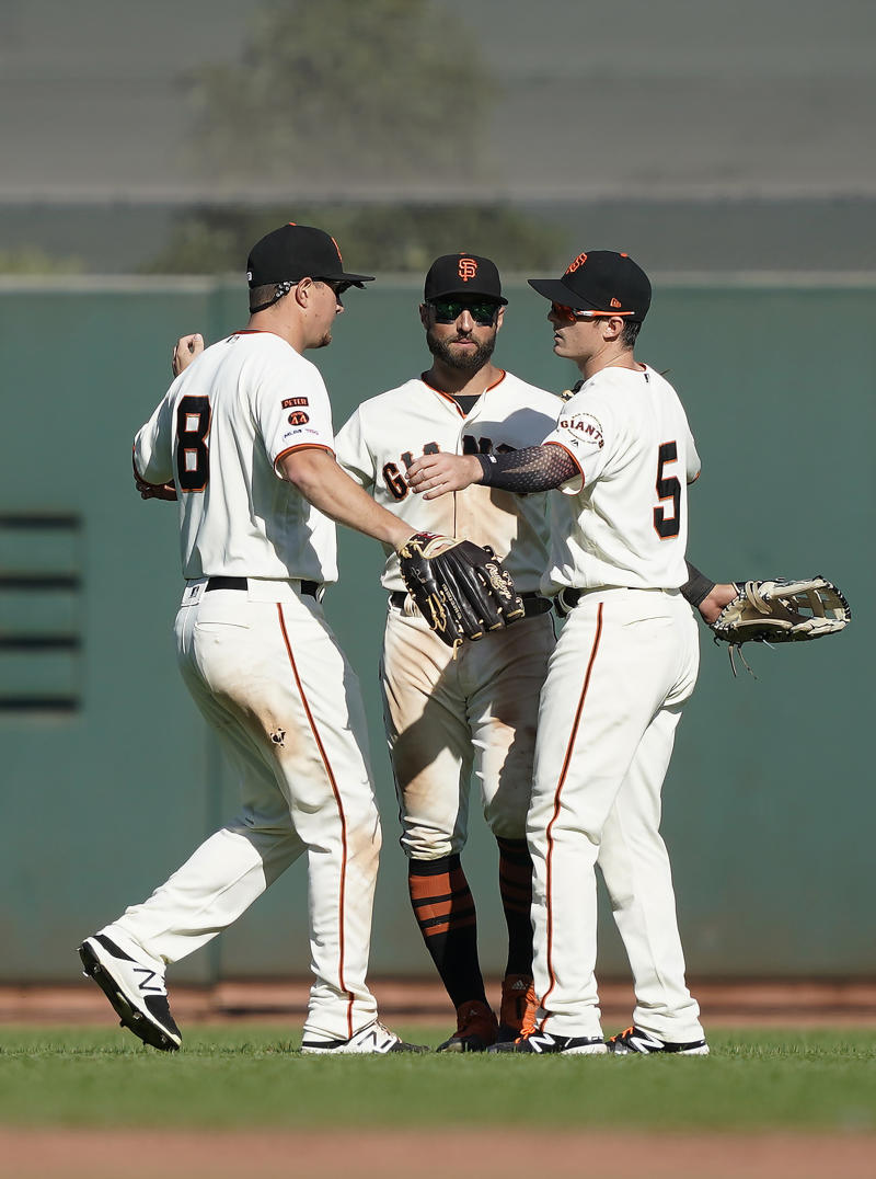 Beede hitless into 4th, then hurt as Giants top Rockies 8-3