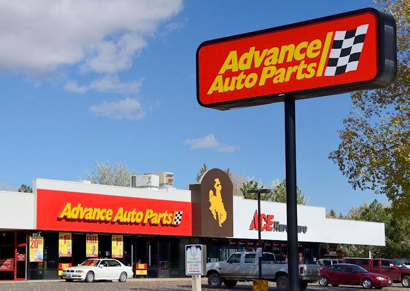 Laramie, Wyoming, USA - October 14, 2012: An Advance Auto Parts location in Laramie, Wyoming. Founded in 1932, Advance Auto Parts is a chain of automotive parts stores with over 3,500 locations.