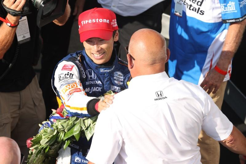 Sato savours 'second chance in life' after Indy 500 win