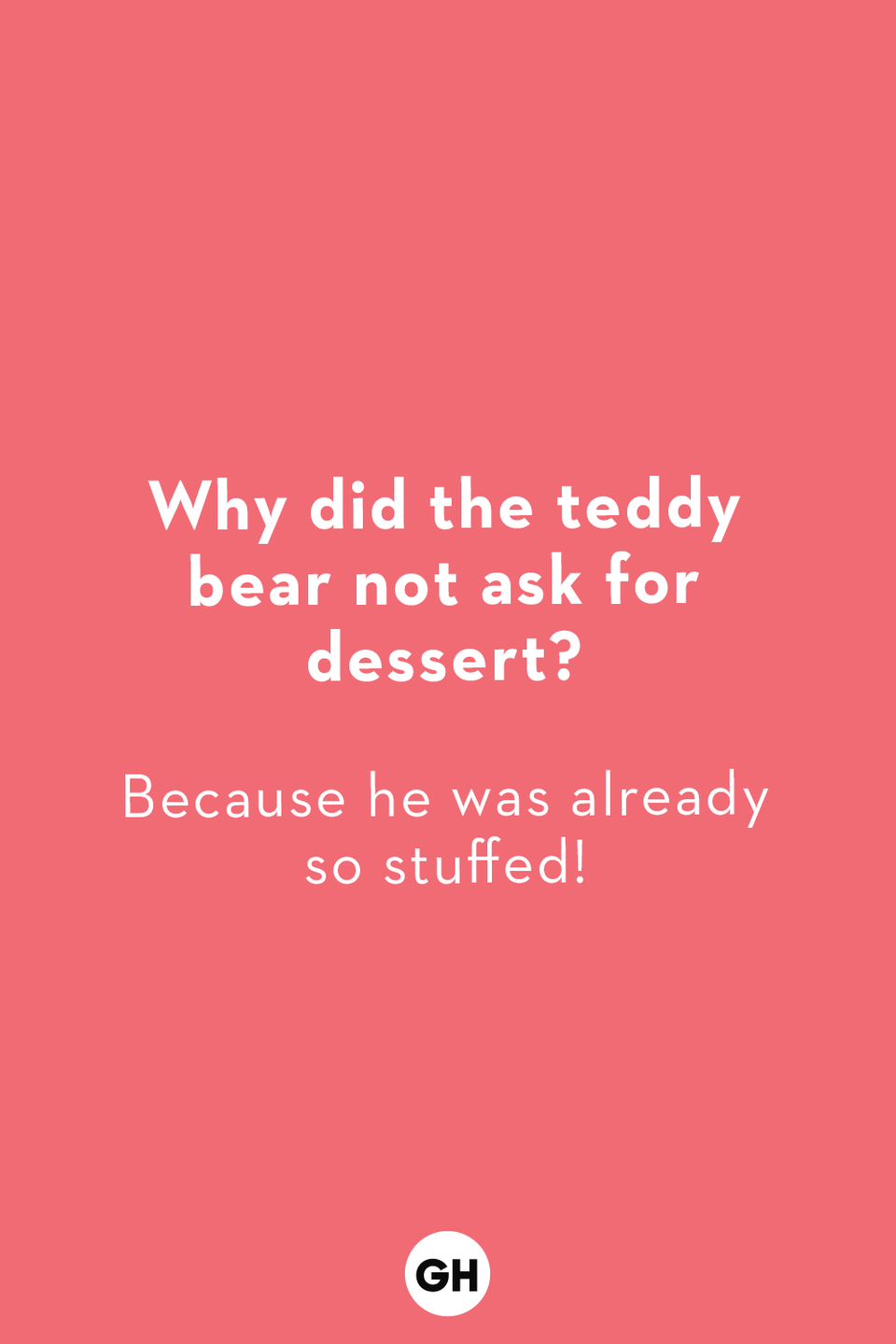 <p>Because he was already so stuffed!</p>