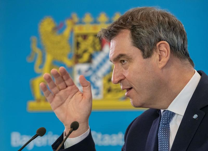 Markus Söder (Photo by PETER KNEFFEL/POOL/AFP)