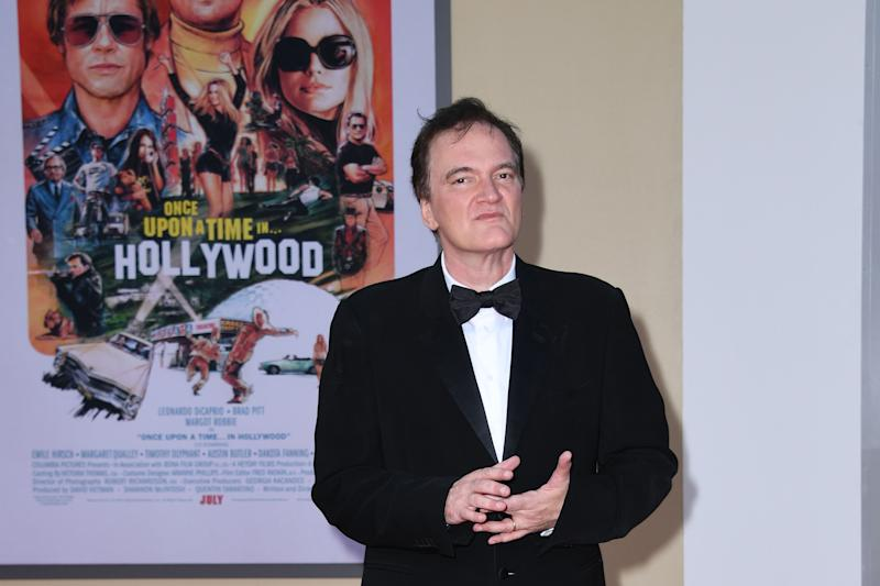 "US filmmaker Quentin Tarantino arrives for the premiere of Sony Pictures' ""Once Upon a Time... in Hollywood"" at the TCL Chinese Theatre in Hollywood, California on July 22, 2019. (Photo by VALERIE MACON / AFP) (Photo credit should read VALERIE MACON/AFP/Getty Images)"