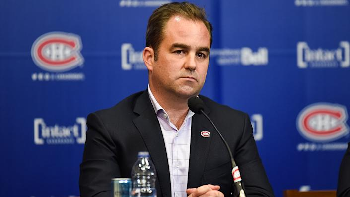 Montreal Canadiens owner Geoff Molson addressed his team's decision to select Logan Mailloux in the 2021 NHL Draft. (Photo by David Kirouac/Icon Sportswire via Getty Images)