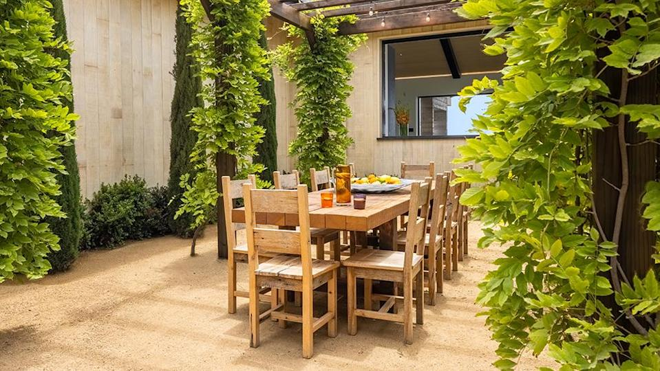 An outdoor dining area. - Credit: Photo: Tanveer Badal Photography