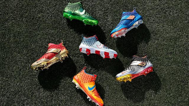 New colorways of the Trout Zoom 6 unveiled at MLB All-Star week. (Nike)
