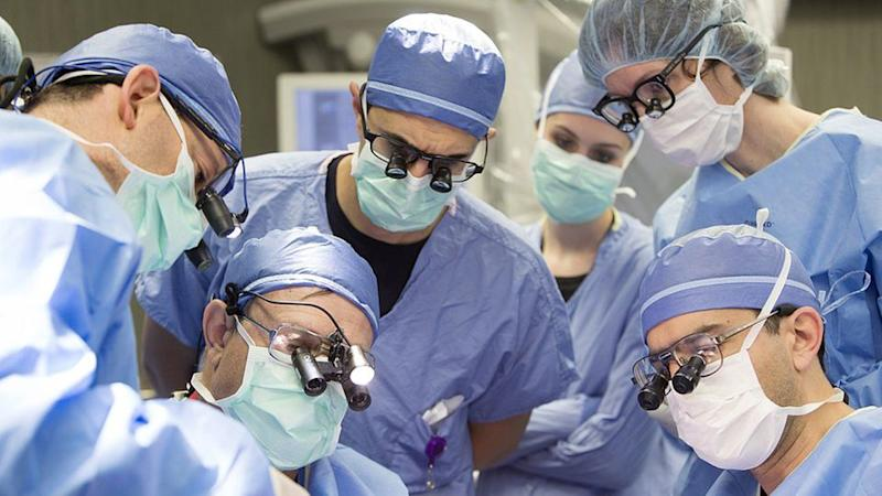 It was the first ever full facial transplant undertaken at the hospital. Source: AAP