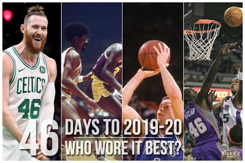 Which NBA player wore No. 46 best?