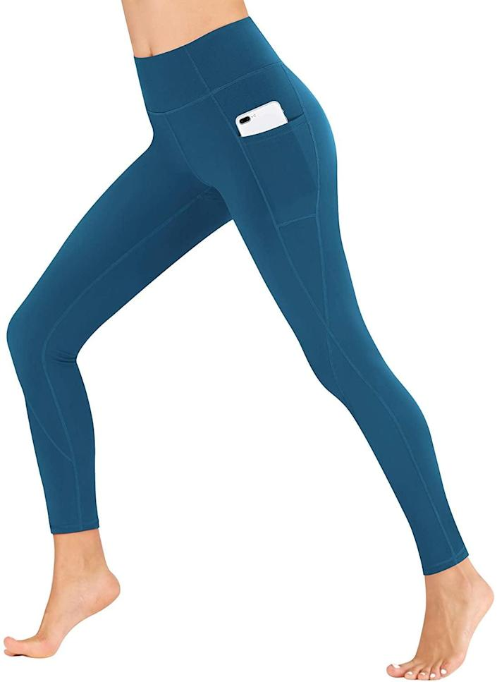 <p>These <span>Heathyoga Yoga Pants with Pockets</span> ($20, originally $22) will definitely come in handy. Plus, they come in a bunch of different colors.</p>