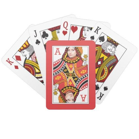 """<h3><a href=""""https://www.zazzle.com/custom_add_your_face_and_monogram_queen_card_playing_cards-256472083957175330"""" rel=""""nofollow noopener"""" target=""""_blank"""" data-ylk=""""slk:Custom Photo Playing Cards"""" class=""""link rapid-noclick-resp"""">Custom Photo Playing Cards</a></h3><br>A custom card deck that makes them the queen of hearts in every hand. <br><br><strong>Zazzle</strong> Custom Playing Cards, $, available at <a href=""""https://www.zazzle.com/custom_add_your_face_and_monogram_queen_card_playing_cards-256472083957175330"""" rel=""""nofollow noopener"""" target=""""_blank"""" data-ylk=""""slk:Zazzle"""" class=""""link rapid-noclick-resp"""">Zazzle</a>"""