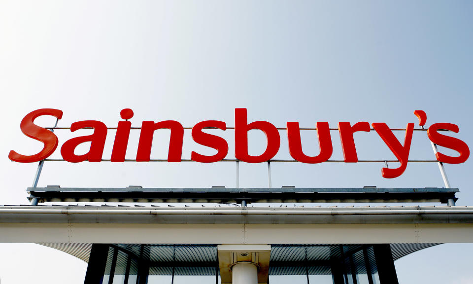 A Sainsbury's store sign