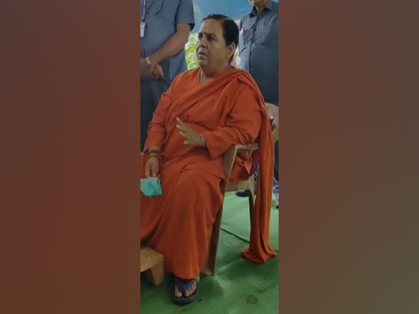 A visual from the viral video where BJP leader Uma Bharti is heard giving controversial statements.
