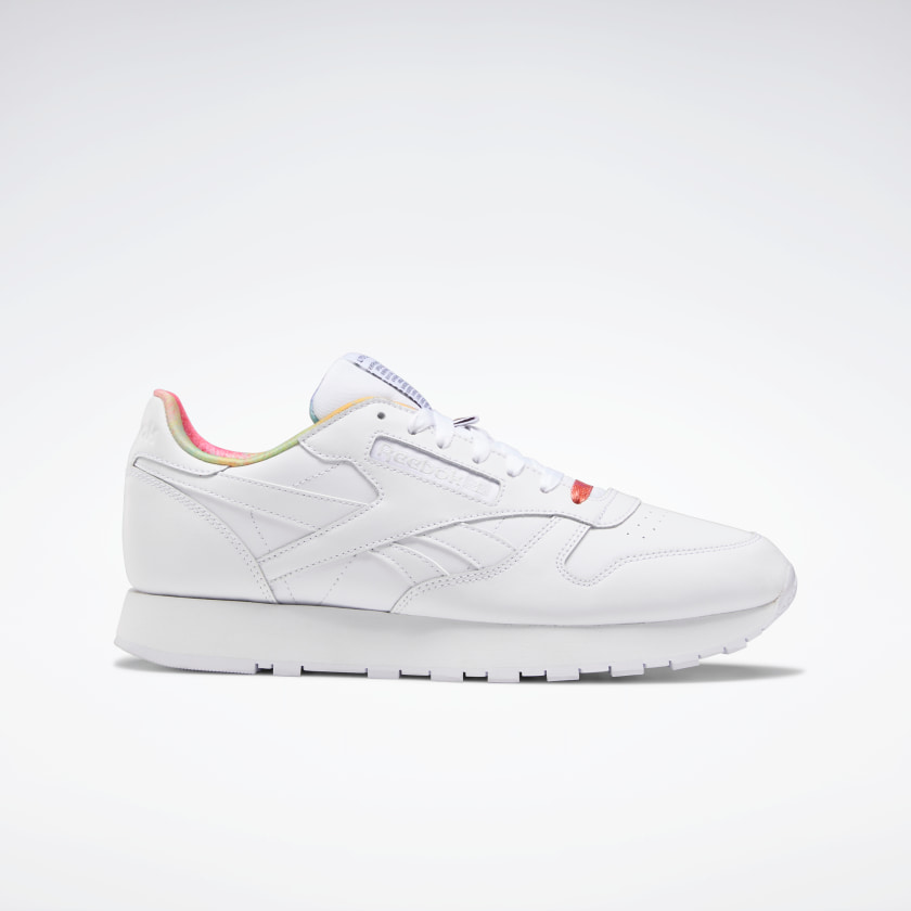 "<a href=""https://www.reebok.com/us/pride"" rel=""nofollow noopener"" target=""_blank"" data-ylk=""slk:Reebok"" class=""link rapid-noclick-resp""><h2>Reebok</h2></a> <br>Last month, Reebok released ""All Types of Love,"" an apparel and shoe collection, plus a campaign featuring activists and influencers in the LGBTQ+ community. The sportswear brand has also donated $75,000 to the <a href=""https://itgetsbetter.org/"" rel=""nofollow noopener"" target=""_blank"" data-ylk=""slk:It Gets Better Project"" class=""link rapid-noclick-resp"">It Gets Better Project</a>.<br><br><strong>Reebok</strong> Classic Leather Pride Shoes, $, available at <a href=""https://go.skimresources.com/?id=30283X879131&url=https%3A%2F%2Fwww.reebok.com%2Fus%2Fclassic-leather-pride-shoes%2FFX4774.html"" rel=""nofollow noopener"" target=""_blank"" data-ylk=""slk:Reebok"" class=""link rapid-noclick-resp"">Reebok</a><br>"