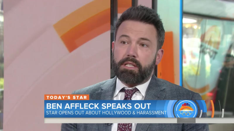 Ben Affleck Dodges Question About Rose McGowan's Claim That Weinstein Raped Her
