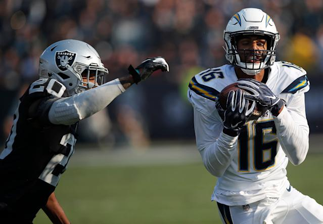 Los Angeles Chargers wide receiver Tyrell Williams (16) will be popular in free agency. (AP)