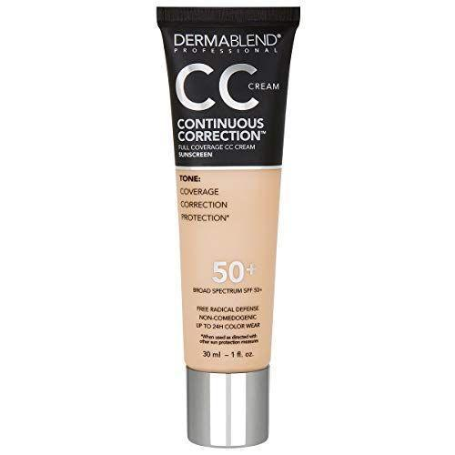 """<p><strong>Dermablend</strong></p><p>amazon.com</p><p><strong>$39.00</strong></p><p><a href=""""https://www.amazon.com/dp/B08WJ3TWSK?tag=syn-yahoo-20&ascsubtag=%5Bartid%7C10055.g.30611666%5Bsrc%7Cyahoo-us"""" rel=""""nofollow noopener"""" target=""""_blank"""" data-ylk=""""slk:Shop Now"""" class=""""link rapid-noclick-resp"""">Shop Now</a></p><p>One of our chemists referred to this as<strong> """"a beast with coverage"""" and many testers echoed that saying it covered red, brown, and liver spots, veins and redness around the nose</strong> and made their skin look smooth. You'll want to watch out for how much you apply, as our testers found it can look and feel heavy if too much is applied. Our experts advise to start small and layer more on as necessary since a little goes a long way.</p><p><strong>Shades:</strong> 16<br><strong>SPF: </strong>50+</p>"""