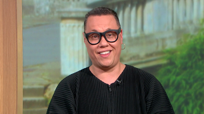 Gok Wan had his hair shaved off for charity. (ITV)
