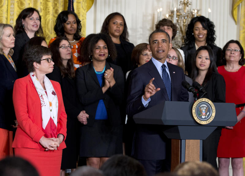 Obama observes 50th anniversary of Equal Pay Act