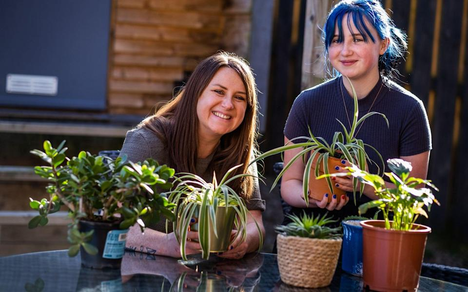Gardening has help Wendy Russell, pictured with daughter Mia, cope with grief - Chris Watt Photography