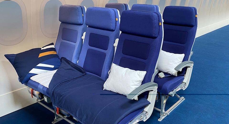 Lufthansa's sleeper row includes a mattress, pillow and blanket (Lufthansa)
