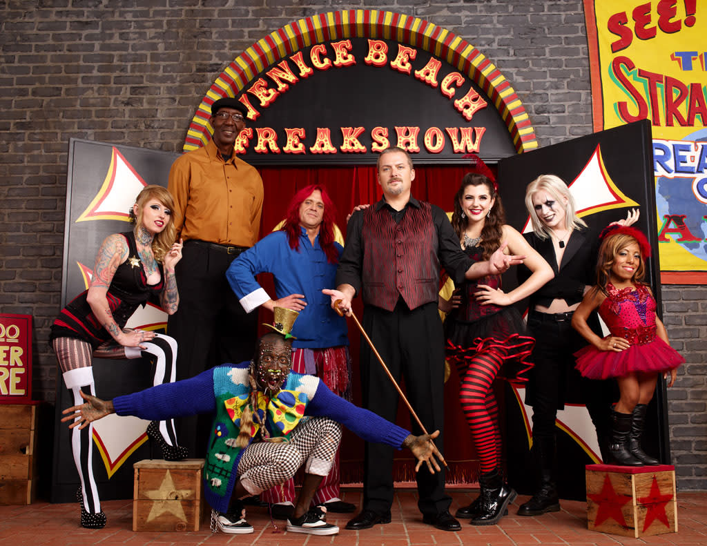 "Brianna, George, Murrugun, Creature, Todd, Asia, Morgue and Ali in ""Freakshow"" on AMC."