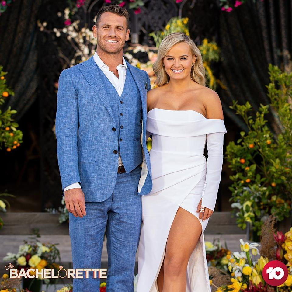 Elly Miles and Frazer Neate in the finale of The Bachelorette 2020