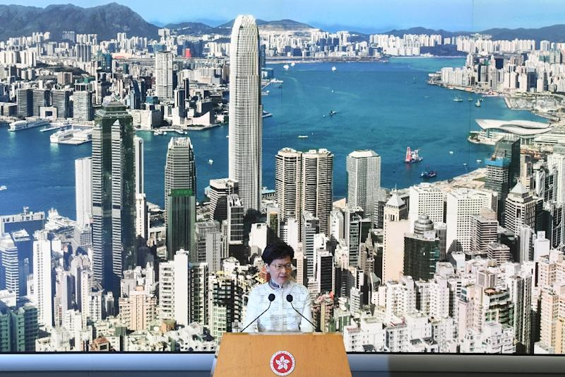 Hong Kong Chief Executive Carrie Lam has apologised for the turmoil, but that may not be enough to appease protesters (AFP Photo/Anthony WALLACE)