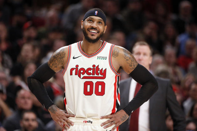 Portland is reportedly amending Carmelo Anthony's contract to guarantee it for the remainder of the season. (Soobum Im/Reuters)