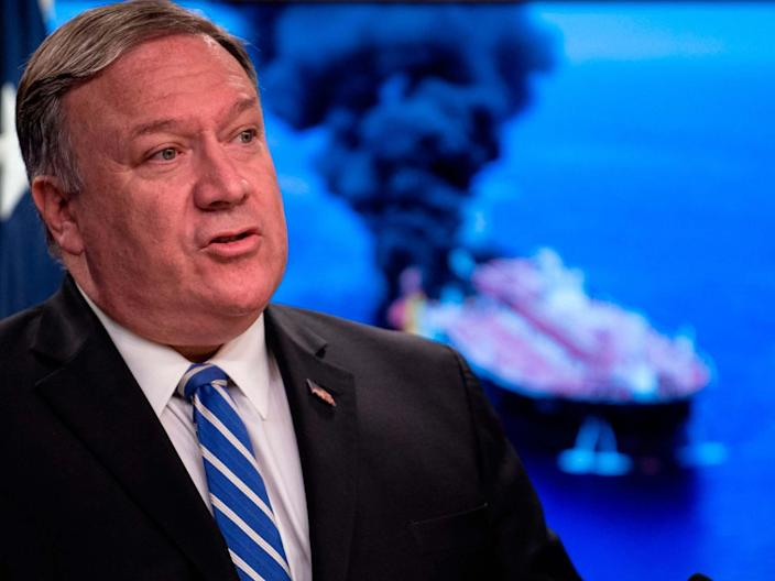 """Mike Pompeo has called on the UK to """"take care of their ships"""" in the Strait of Hormuz amid increasing tensions between Tehran and the West since Iran seized a British oil tanker .The US secretary of state said in an interview with Fox News on Monday """"the responsibility in the first instance falls to the United Kingdom"""".""""This is a bad regime, it's not honouring the people of Iran, they've not conducted what amounts to national piracy — a nation state taking over a ship that's travelling in international waters — this is the kind of behaviour we've seen out of Iran for 40 years.""""The United States has a responsibility to do our part, but the world has a big role in this too to keep those sea lanes open,"""" said Mr Pompeo.Confrontation between the United States and Iran has spiralled since last year when Donald Trump pulled out of an international agreement signed by his predecessor Barack Obama which guaranteed Iran access to world trade in return for curbs to its nuclear programme.Since then, Iran has stepped up its nuclear activity beyond limits in the deal and Washington has accused Tehran of attacking ships in the Gulf. In June, after Iran shot down a US drone, Trump ordered retaliatory air strikes, only to abort them minutes before impact, the closest the United States has come to bombing Iran in their 40 year history of animosity.Last week the United States said it had shot down an Iranian drone, which Tehran denied.In a statement Friday, a spokesperson for the US Naval Forces Central Command said the department was in contact with US vessels in order to """"ensure their safety."""" Meanwhile, the Trump administration was preparing an international coalition of """"like-minded nations"""" called an Operation Sentinel in an effort to block Tehran from preventing commercial shipping in the region, the Associated Press reported. The US is also expected to deploy fighter aircraft, air defence missiles and over 500 troops to a nearby Saudi airbase as tensions continue to rise, the"""