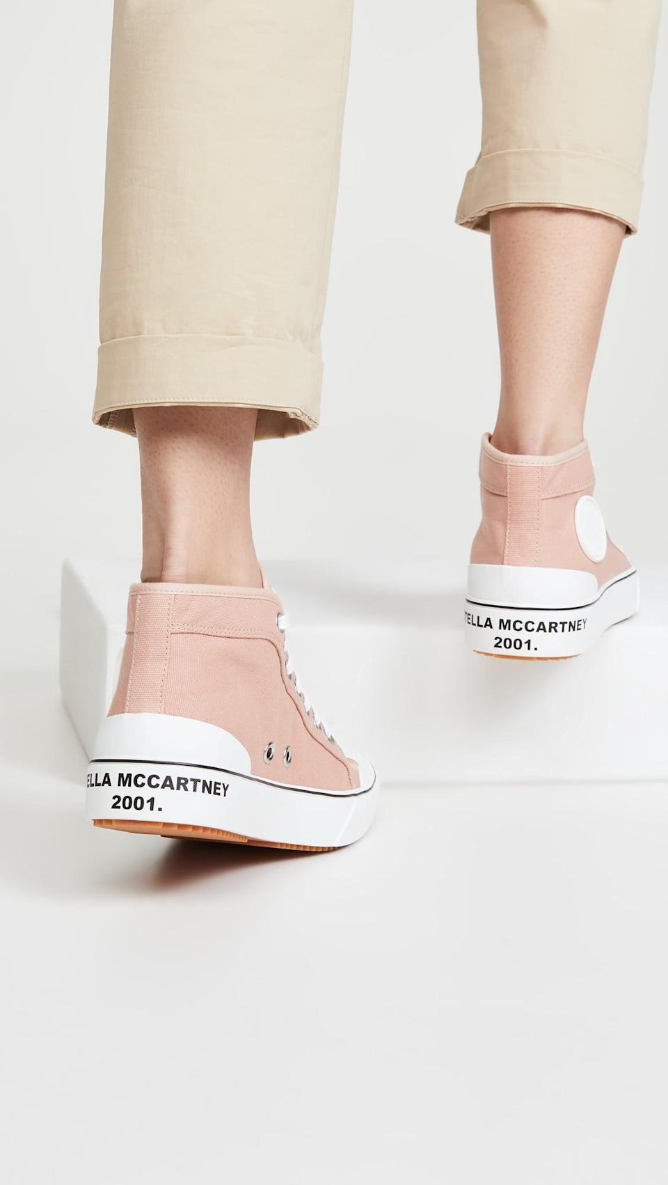 "<p><a href=""https://www.popsugar.com/buy/Stella-McCartney-Fabric-Sneakers-584514?p_name=Stella%20McCartney%20Fabric%20Sneakers&retailer=shopbop.com&pid=584514&price=395&evar1=fab%3Aus&evar9=47571677&evar98=https%3A%2F%2Fwww.popsugar.com%2Ffashion%2Fphoto-gallery%2F47571677%2Fimage%2F47571943%2FStella-McCartney-Fabric-Sneakers&list1=shopping%2Cshoes%2Csneakers%2Csummer%2Csummer%20fashion%2Cfashion%20shopping&prop13=mobile&pdata=1"" rel=""nofollow noopener"" class=""link rapid-noclick-resp"" target=""_blank"" data-ylk=""slk:Stella McCartney Fabric Sneakers"">Stella McCartney Fabric Sneakers</a> ($395)</p>"