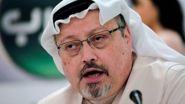 PHOTO: Saudi journalist Jamal Khashoggi speaks during a news conference in Manama, Bahrain, Feb. 1, 2015. (Hasan Jamali/AP, FILE)