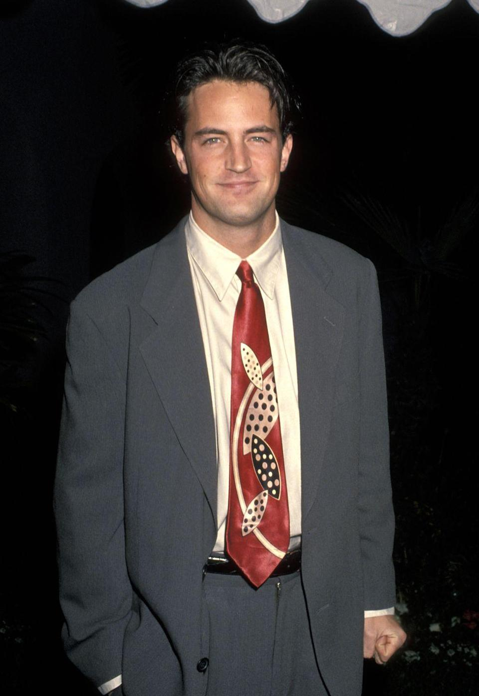 <p>Even though Matthew began his acting career almost a decade before landing the role of Chandler Bing, he was mostly landing guest roles on television shows like <em>Growing Pains </em>or <em>90210. </em><em>Friends </em>was by far his biggest break in 1994. </p>
