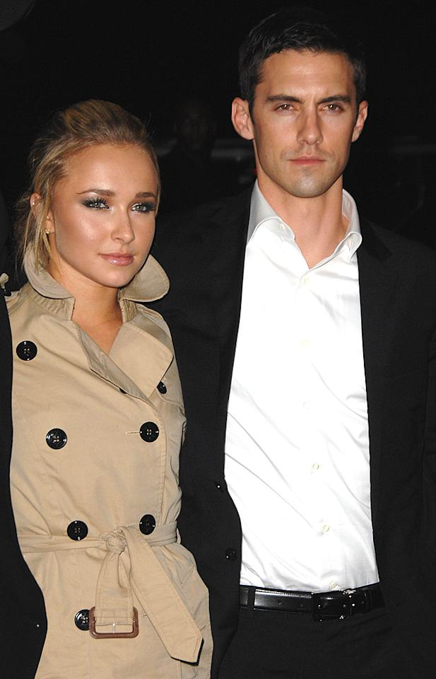 "With 12 years separating them, we weren't that surprised when ""Heroes"" hotties Hayden Panettiere and Milo Ventimiglia ended their on-again/off-again relationship in February. Scott Kirkland/<a href=""http://www.infdaily.com"" target=""new"">INFDaily.com</a> - November 14, 2007"