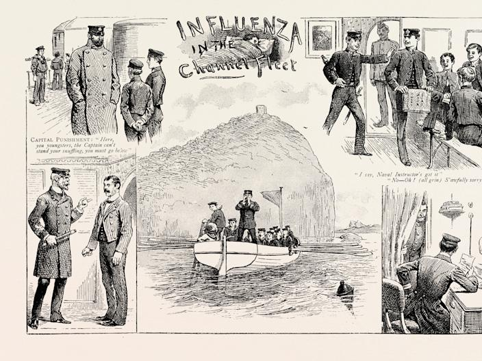 Influenza in the Channel Fleet, an 1890 engraving.