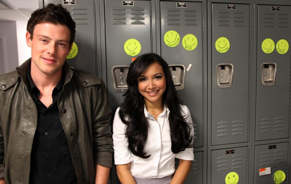 Cory Monteith and Naya Rivera meet fans at the Glee LIVE Tour in association with Samsung Mobile and AT&T at AT&T store on June 3, 2011 in Skokie, Illinois.