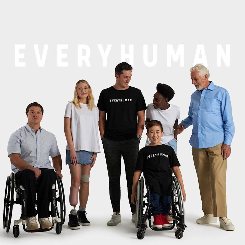 Various models wearing adaptive clothing from online marketplace EveryHuman