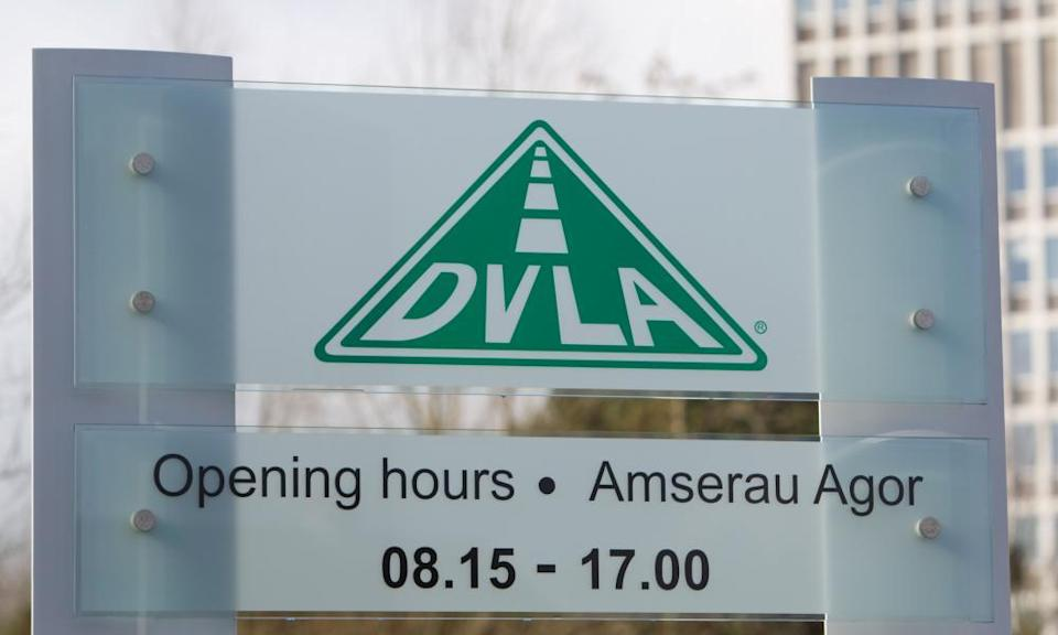 """<span class=""""element-image__caption"""">The Driver Vehicle Licensing Agency's headquarters in Morriston, Swansea.</span> <span class=""""element-image__credit"""">Photograph: James Davies/Alamy</span>"""