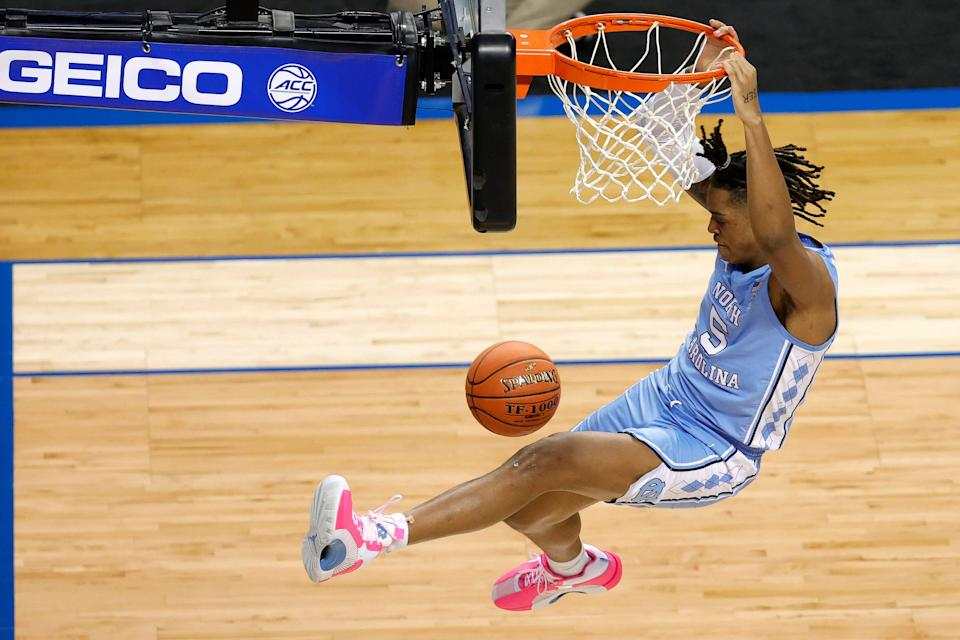 Armando Bacot and No. 8 North Carolina will take on No. 9 Wisconsin in the first round Friday.