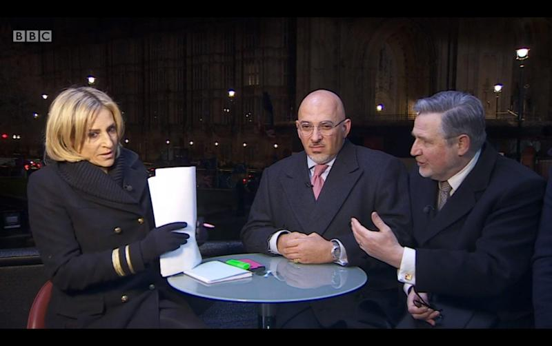 Looking for answers: Emily Maitlis presenting Newsnight on BBC Two