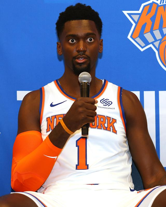 """Hold on, how many power forwards did the Knicks sign this summer?"" — Bobby Portis, I expect"