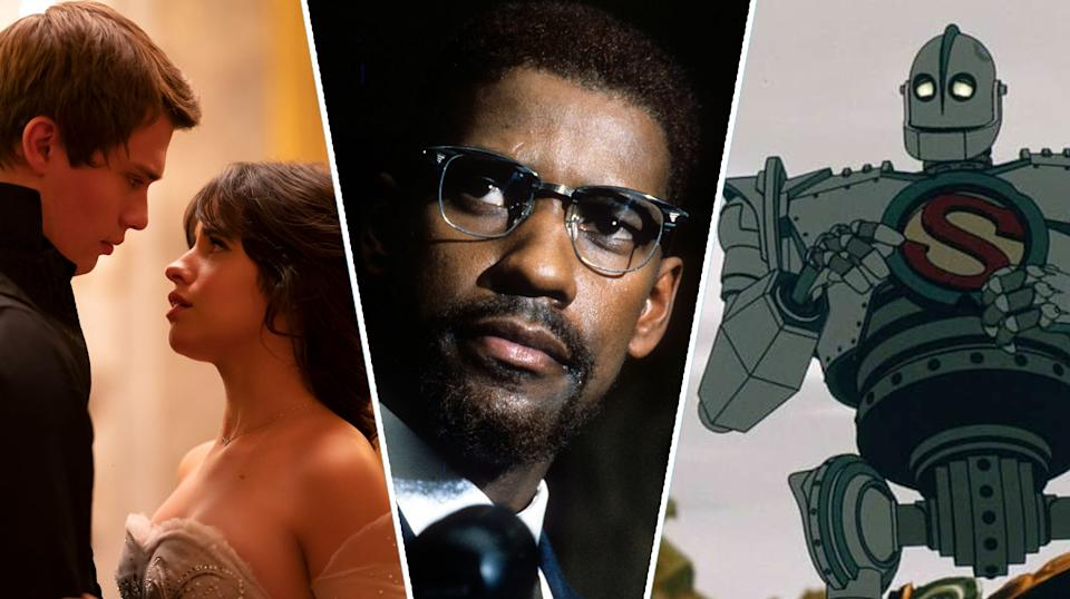 Cinderella, Malcolm X, and The Iron Giant are all new to streaming this weekend (Amazon/Warner Bros.)