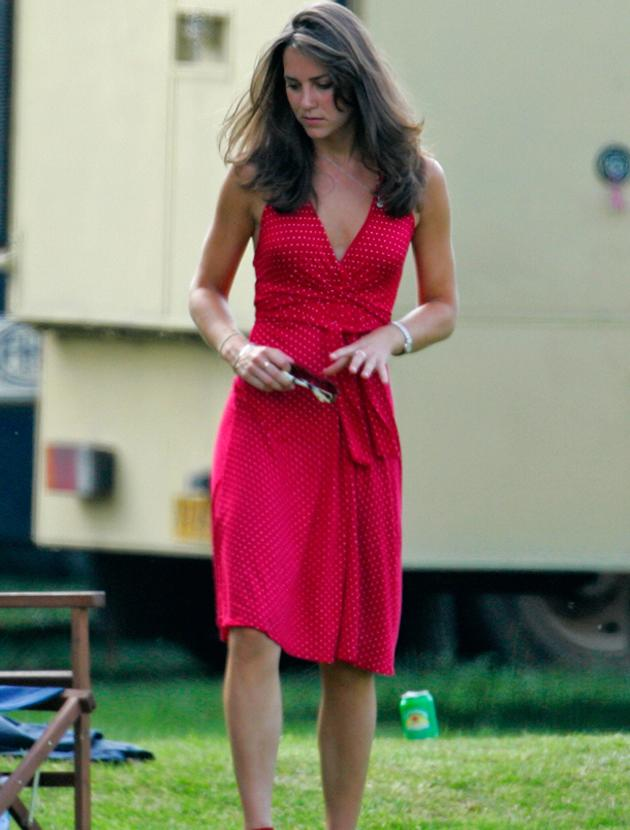 Kate Middleton photos: Surely this look is too daring and low cut for a Duchess? But for a pre-royal wedding Kate is was just the ticket for a  sunny day.