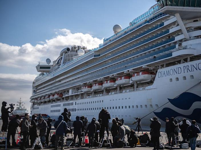 The Diamond Princess was stuck at sea following coronavirus cases reported onboard.