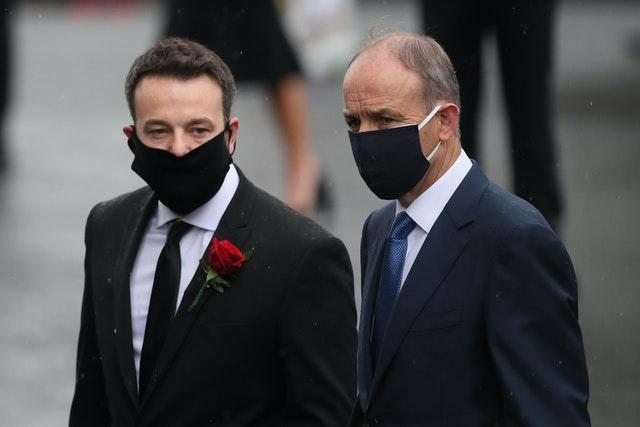 Colum Eastwood and Micheal Martin