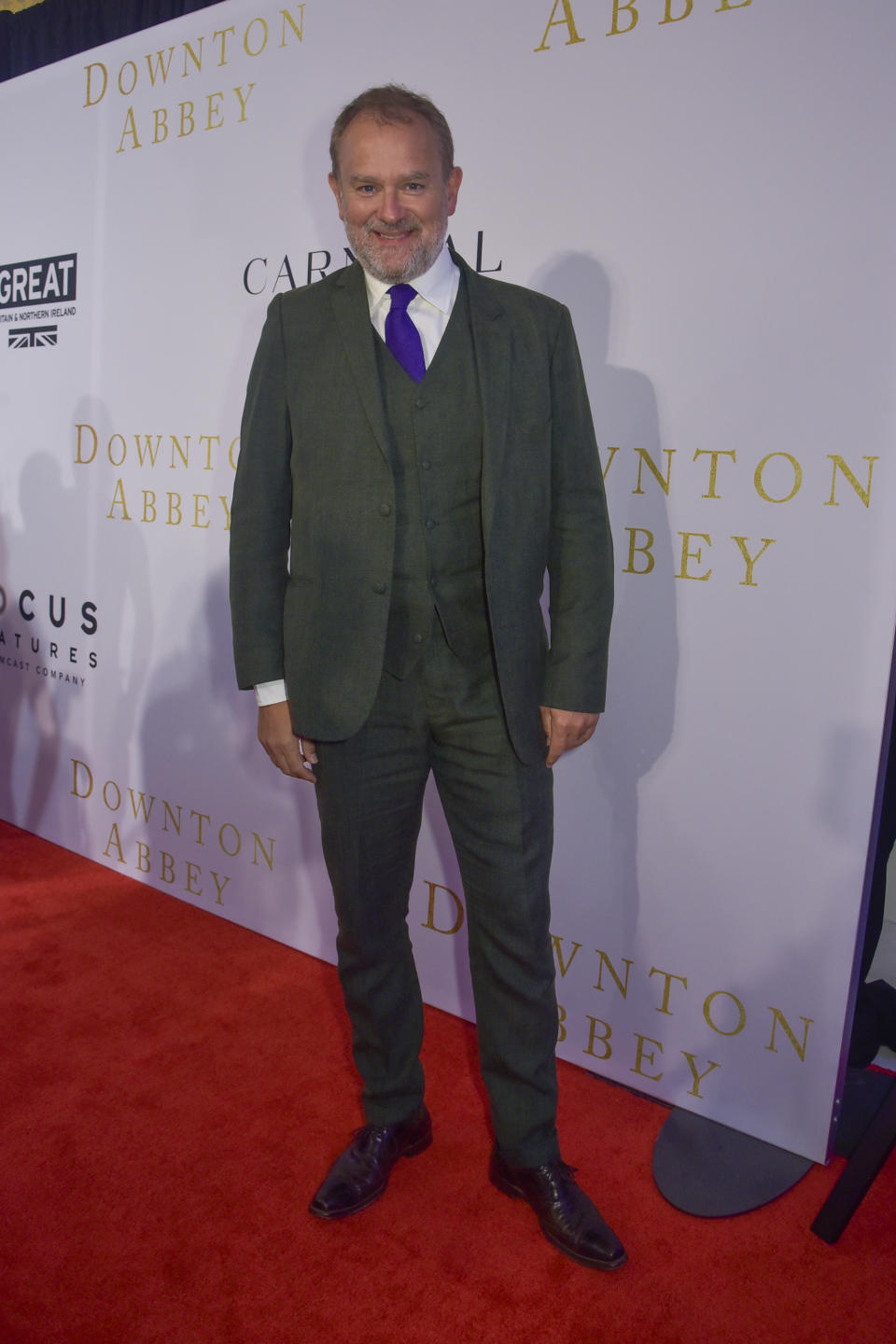 Actor Hugh Bonneville attends a reception for the Focus Features, Carnival and Comcast NBCUniversal the Washington DC Special Screening of Downton Abbey at the British Ambassador's Residence on September 12, 2019 in Washington DC. (Kris Connor/SipaUSA)